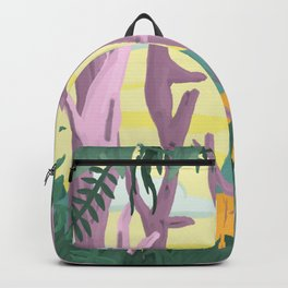 The trees surrounded me and I could see straight through them Backpack
