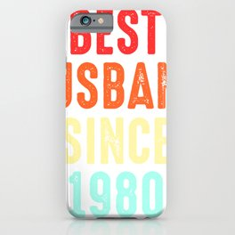 Husband Gift Best Since1980 Marriage Groom Present iPhone Case