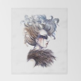Blind // Fashion Illustration Throw Blanket