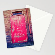 Red alley door Stationery Cards