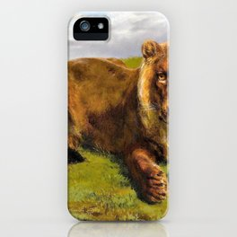 Lioness Posing - Digital Remastered Edition iPhone Case