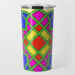 Celtic Knot Stained Glass Travel Mug
