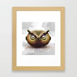 Walter the Grumpy Owl Framed Art Print