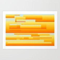 yellow modern Art Art Print