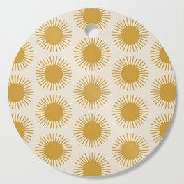 Golden Sun Pattern Cutting Board