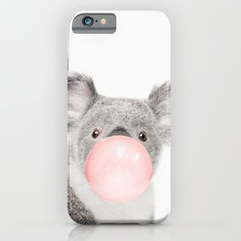 Koala print Bubble gum iPhone Case