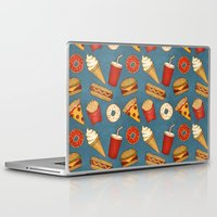 junk food Laptop & iPad Skins featuring Fast Food by Tracie Andrews