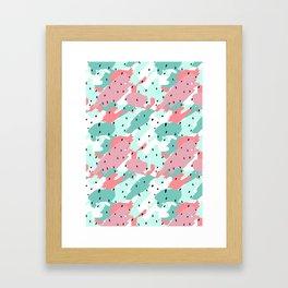 Pastel Camo Framed Art Print
