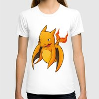 charizard T-shirts featuring Charizard Whale by CoolBreezDesigns