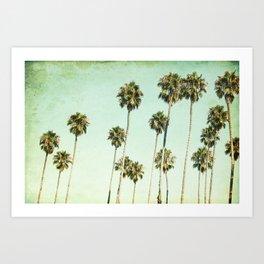 Palm Trees (California Dreaming III) Art Print