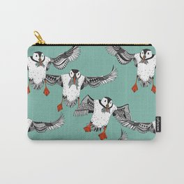 Atlantic Puffins mint Carry-All Pouch