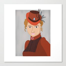 Lady in a Victorian Hat Canvas Print