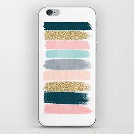 Zara - Brushstroke glitter trendy girly art print and phone case for young trendy girls iPhone Skin
