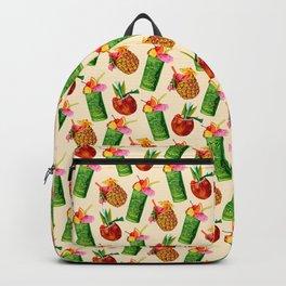 Tiki Cocktail Pattern - Cream Backpack