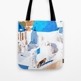 Greek Goddess #painting #illustration #cats Tote Bag