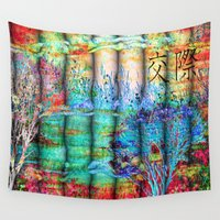 friendship Wall Tapestries featuring ABSTRACT - Friendship by valzart