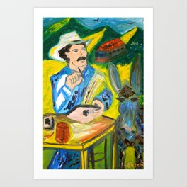 Juan Valdez & Apple Art Print