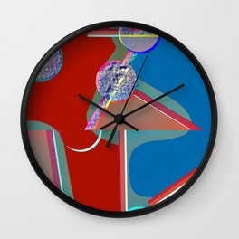 PLAYING VOLLEYBALL Wall Clock