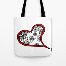 Tangled heart Tote Bag