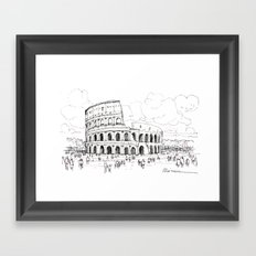 Il colosseo (Roma) Framed Art Print