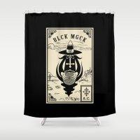 crowley Shower Curtains featuring BLCK MGCK by n3rdeye