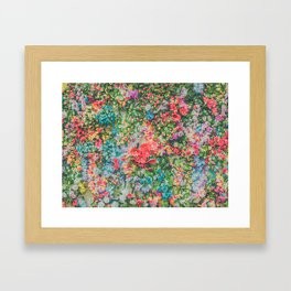 Colorful Variations of Spring Flowers Framed Art Print
