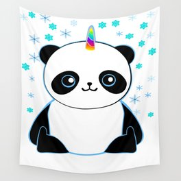 Pandacorn in the Snow Wall Tapestry