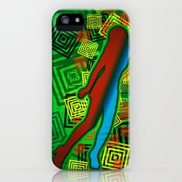 Raimbow Lady iPhone Case