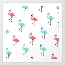 Pink & Mint Floyds Art Print