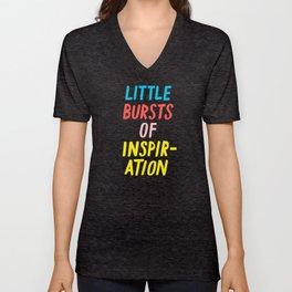 Little Bursts of Inspiration Unisex V-Neck