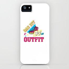 Das Ist Mein Cooles 90er Outfit Vintage Retro Party iPhone Case