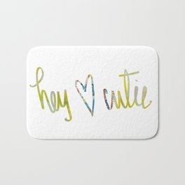 Hey Cutie! Fabric art Bath Mat