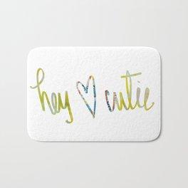 Hey Cutie! Fabric art Bath Mat