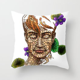 A Beautiful Ginger Boy and Nature Throw Pillow
