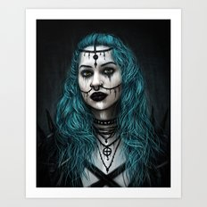 Cold and Haunted Art Print