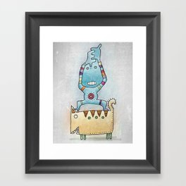 Dancing on Fat Cat Framed Art Print