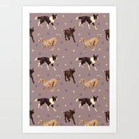 Rescue Dogs Pattern Art Print
