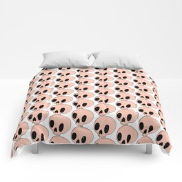 Pink Skull Pattern Comforters