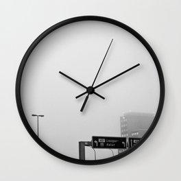 Reykjavík in the mist 2 Wall Clock