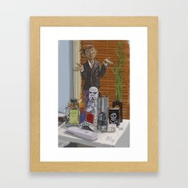 Things Near My Desk Framed Art Print