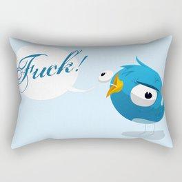 Angry twitter Rectangular Pillow