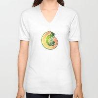 irish V-neck T-shirts featuring Irish Twist by Alan Hogan
