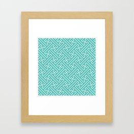 Lattice - Turquoise Framed Art Print