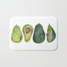 Avocado Slices Bath Mat