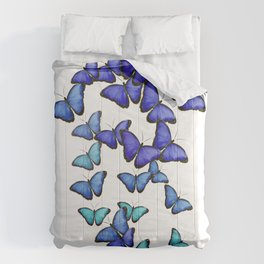 Butterflies Blue Cute Flying Gift Comforters