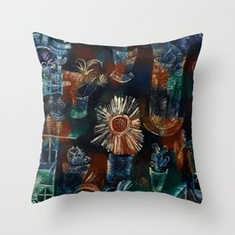 Paul Klee - Stillleben mit Distelblüte - Still Life with Thistle Bloom Throw Pillow