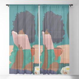 Stay Home No. 5 Sheer Curtain