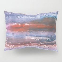 Brown Blue colored watercolor Pillow Sham