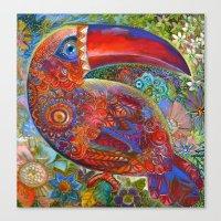 toucan Canvas Prints featuring Toucan by oxana zaika