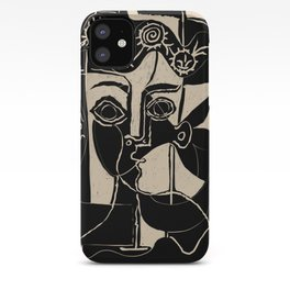 Picasso Woman's head #8 black line iPhone Case